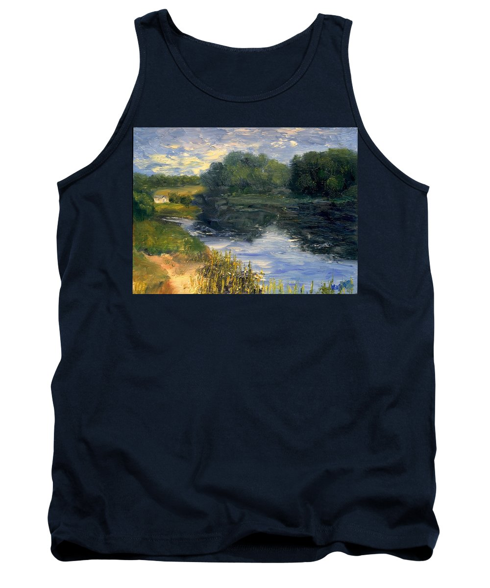 Landscape Tank Top featuring the painting Summer At Jackson Lake by Gail Kirtz