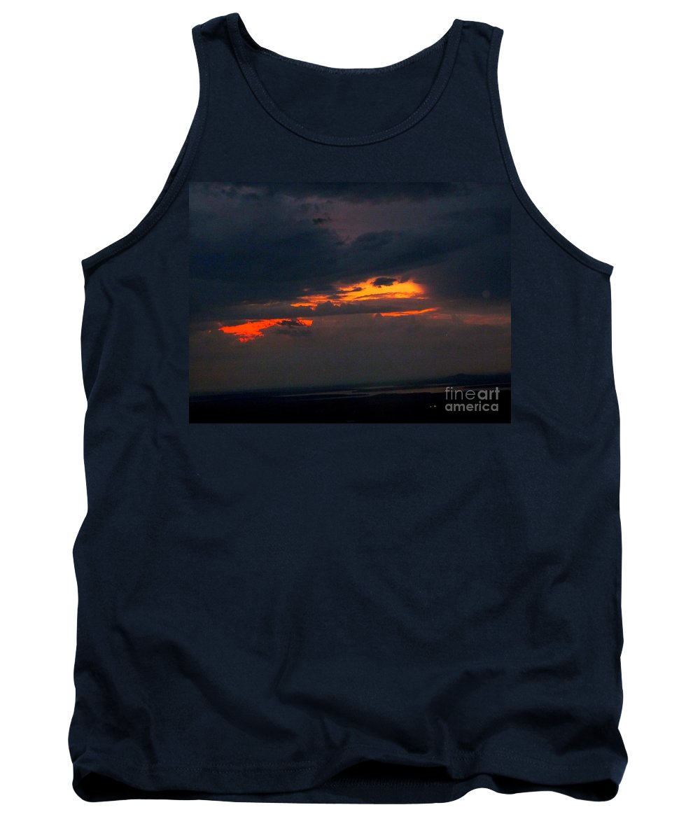Sunset Tank Top featuring the photograph Sun Set On Cadillac Mountain by Elizabeth Dow