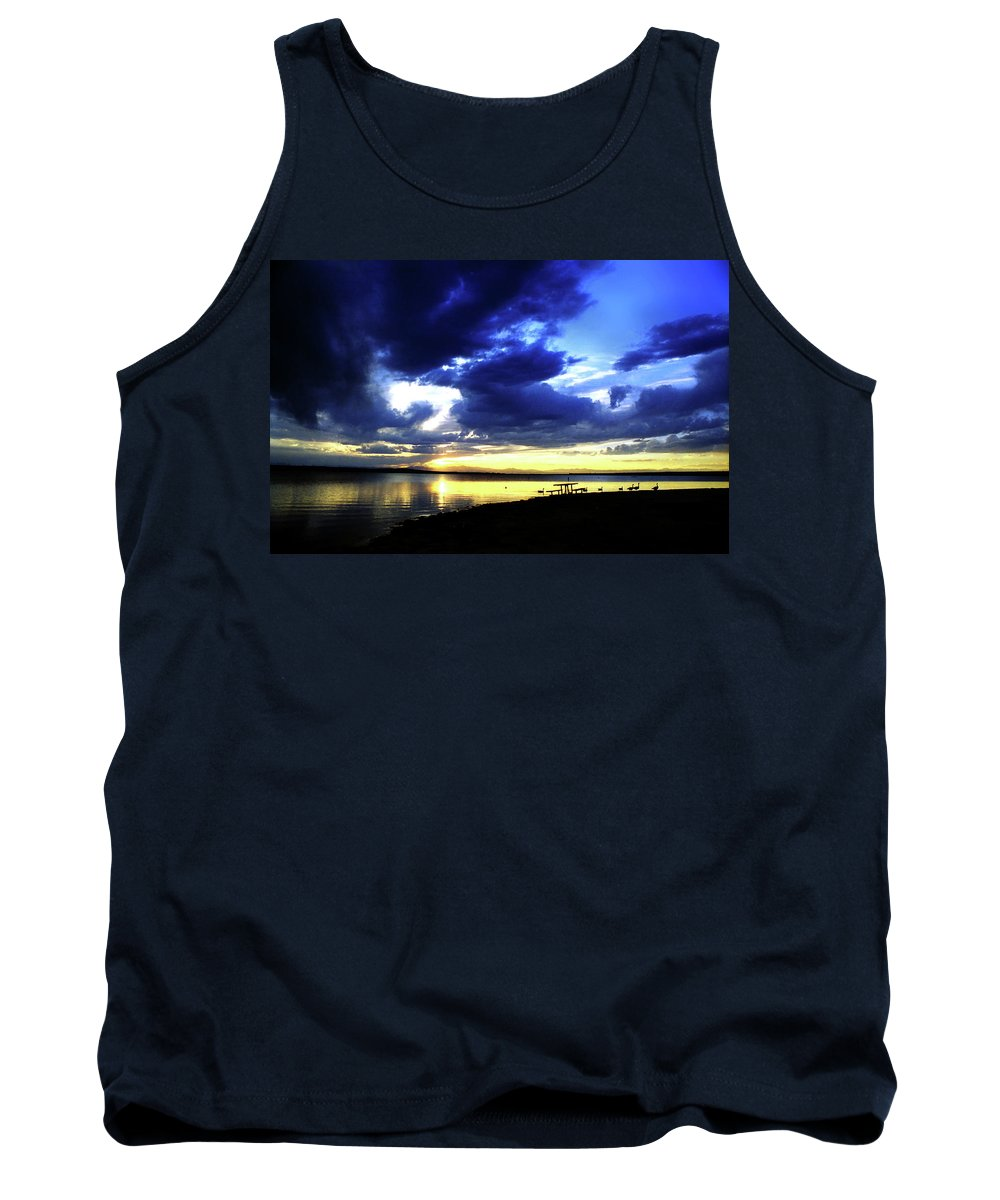 Sunset Tank Top featuring the photograph Sunset Over Aurora II by Ric Bascobert