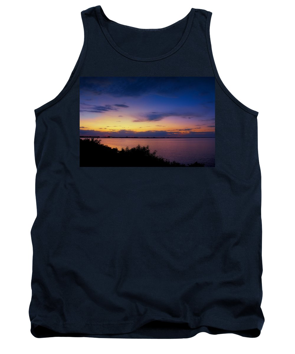 Florida Sunset Tank Top featuring the photograph Sunset Over The Causeway by Louise Hill