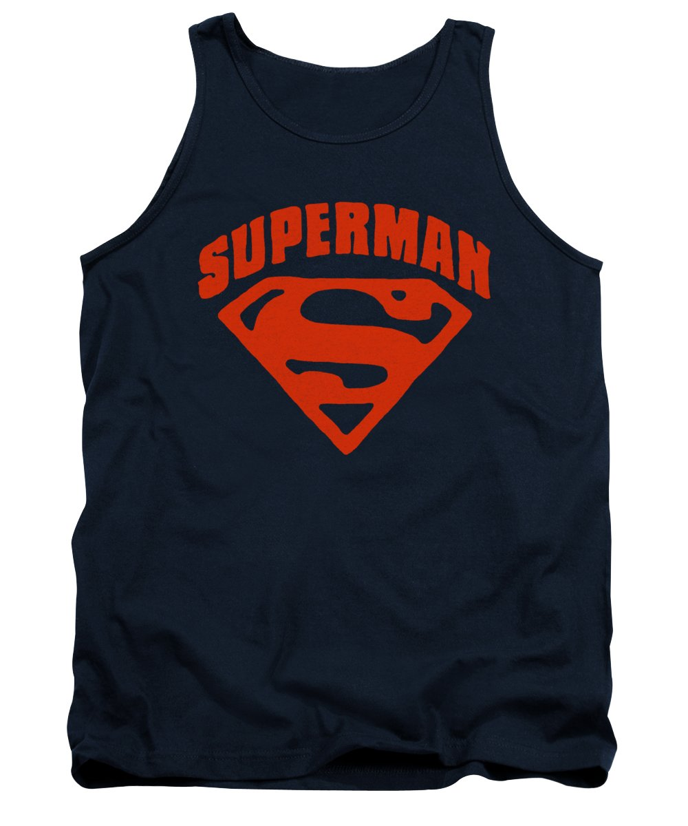 Superman Tank Top featuring the digital art Superman - Super Shield by Brand A