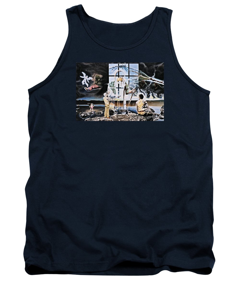 Surreal Tank Top featuring the painting Surreal Windows Of Allegory by Dave Martsolf