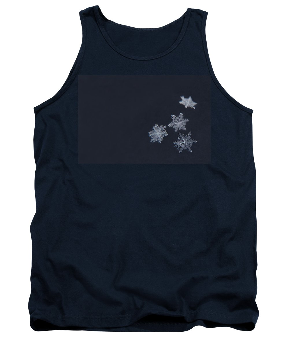 Snowflakes Tank Top featuring the photograph Sweet Snowflakes by Carrie Ann Grippo-Pike