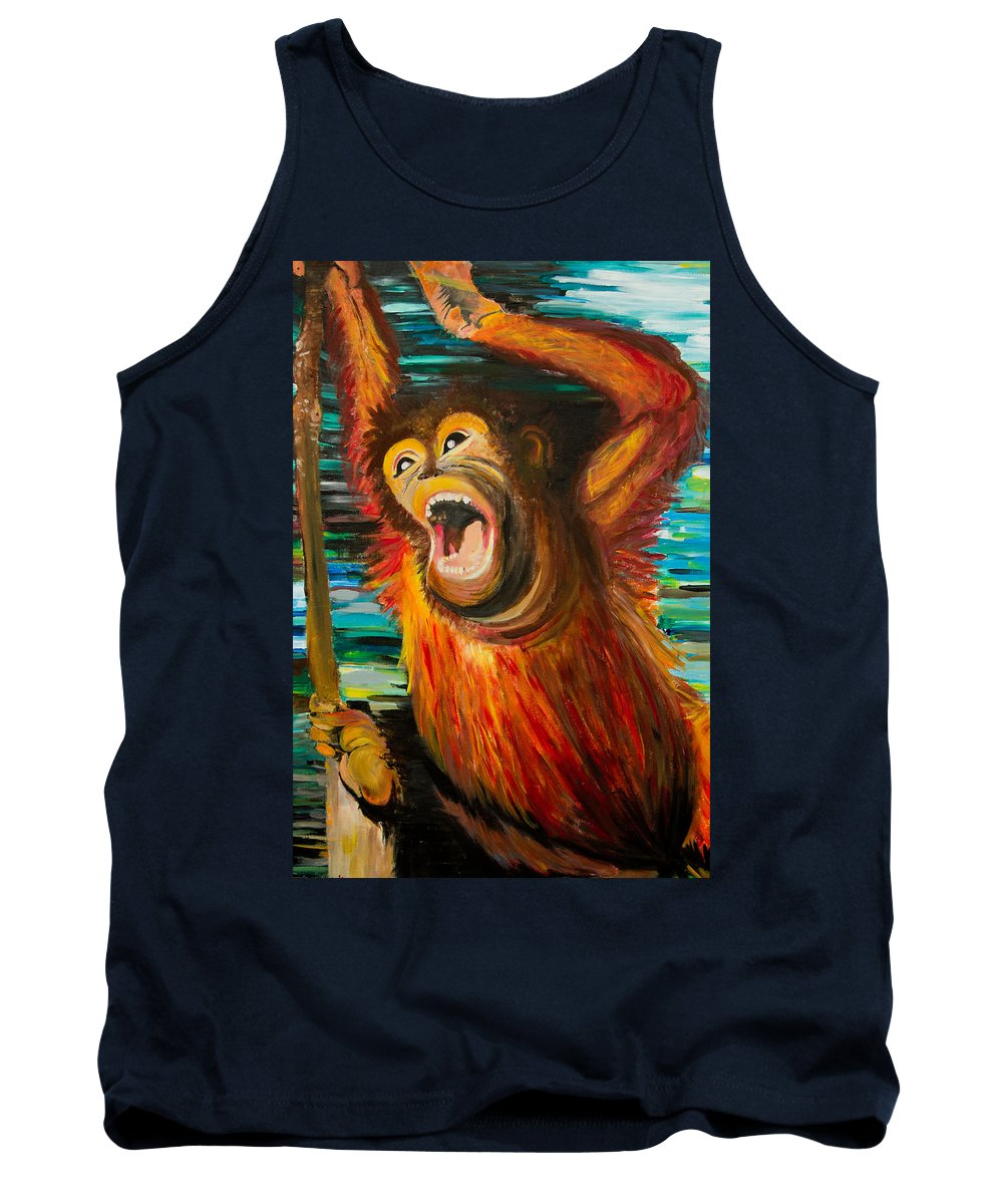 Animals Tank Top featuring the painting Swing Away by Ryanne Bevenger