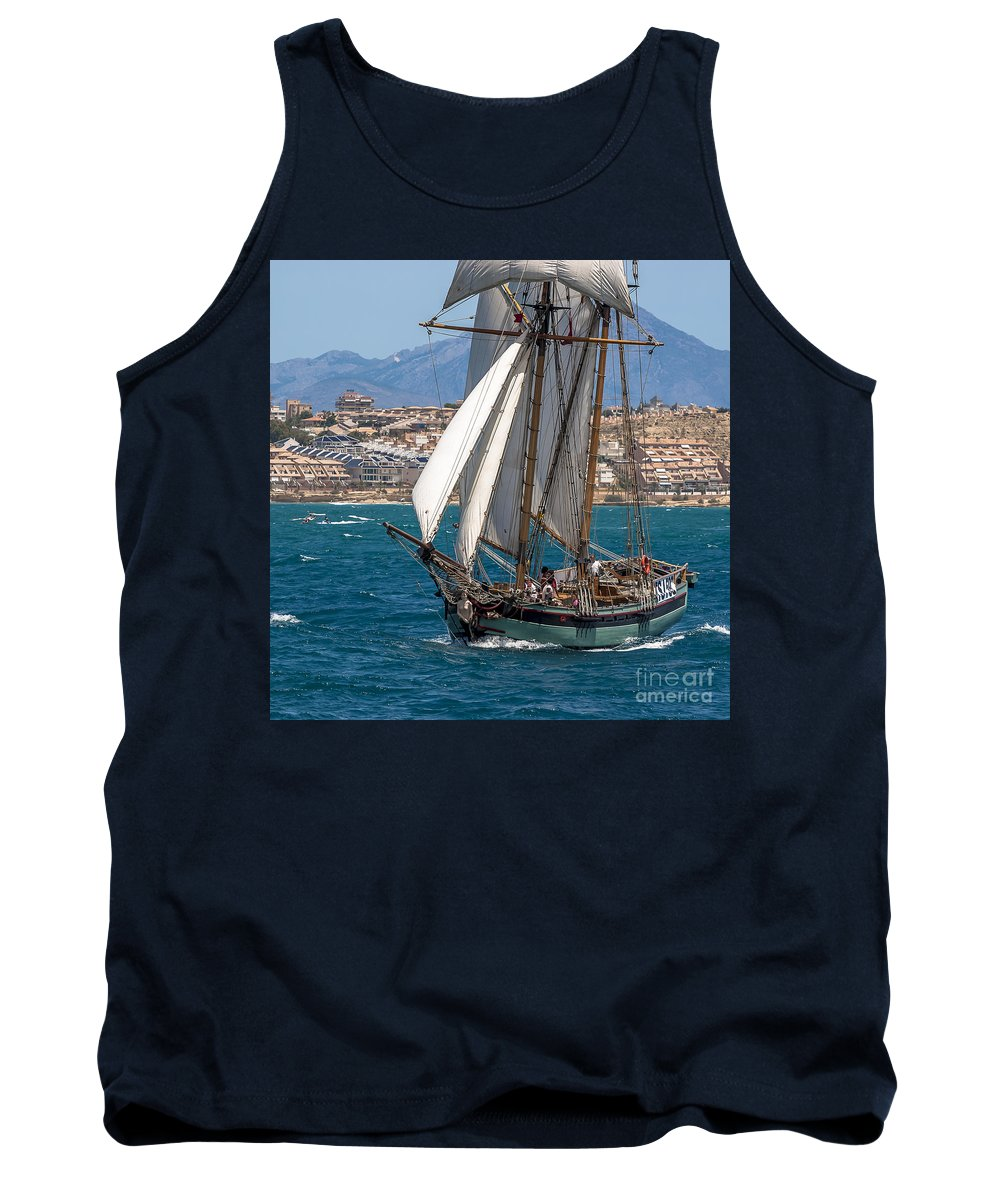 Tall Ships Tank Top featuring the photograph Tall Ship Alicante by Pablo Avanzini