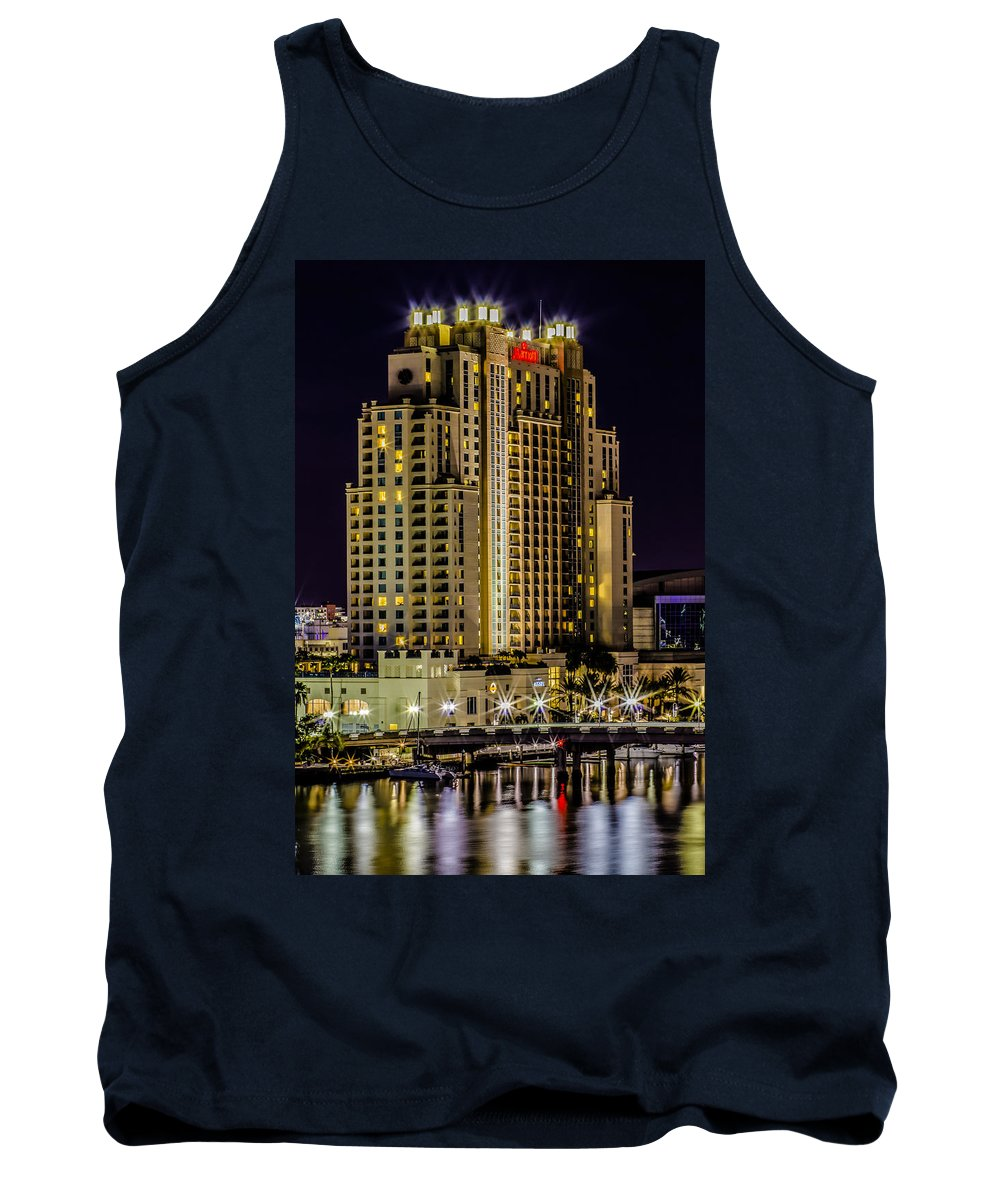 Downtown Tank Top featuring the photograph Embassy Suites Tampa Florida by Stephen Brown