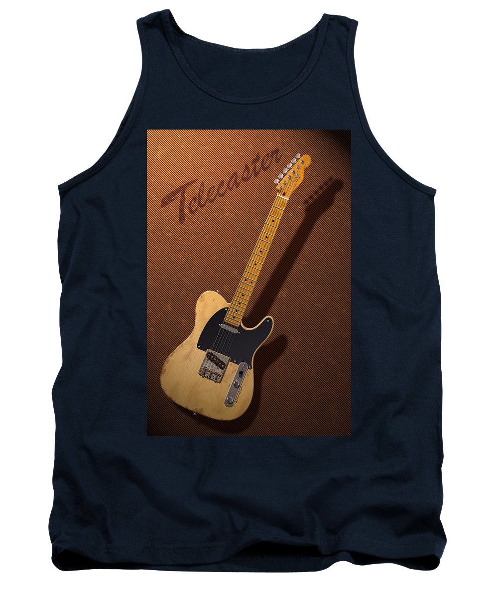 Telecaster Tank Top featuring the digital art Telecaster by WB Johnston