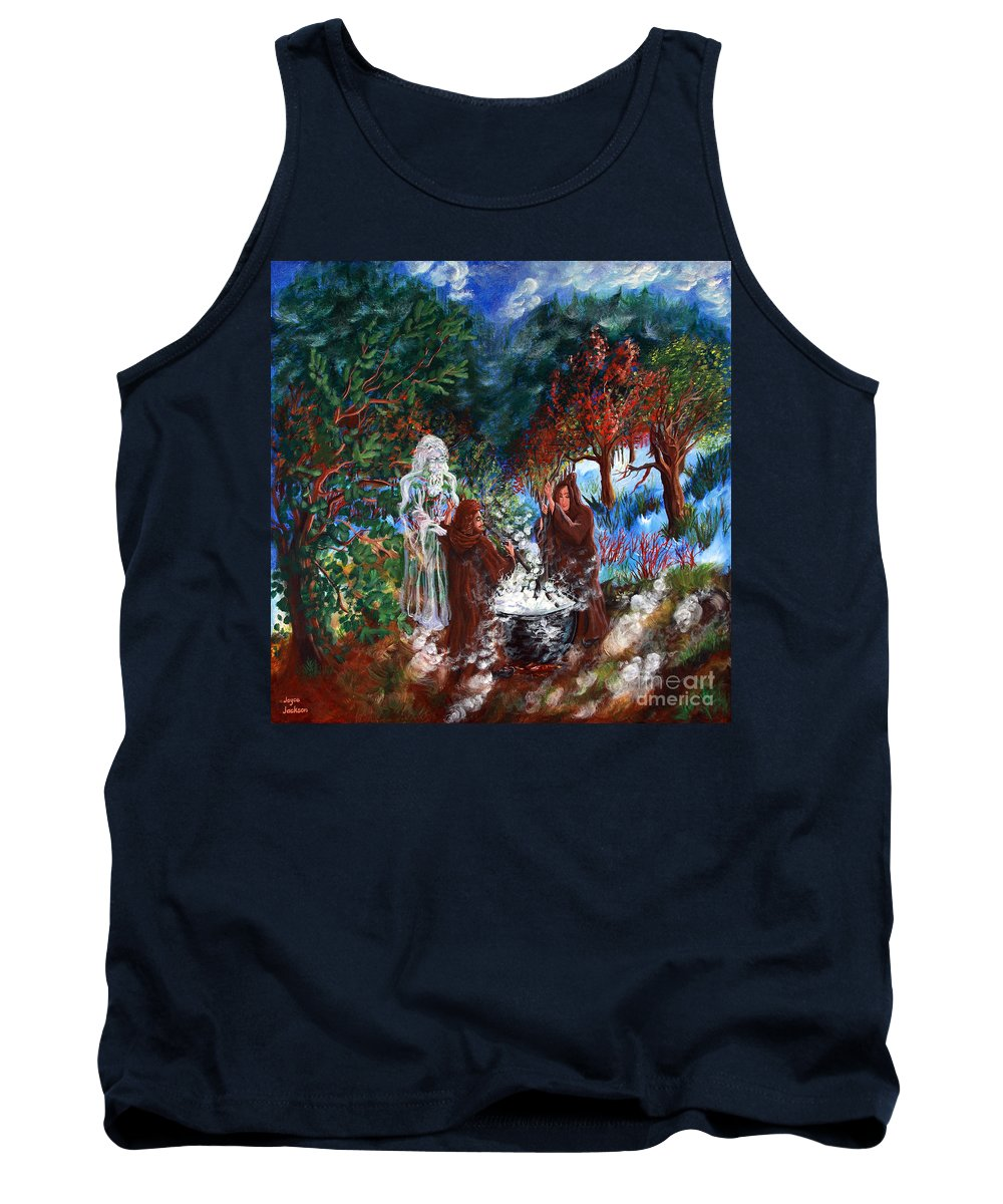 Spiritual Tank Top featuring the painting The Alchemists by Joyce Jackson