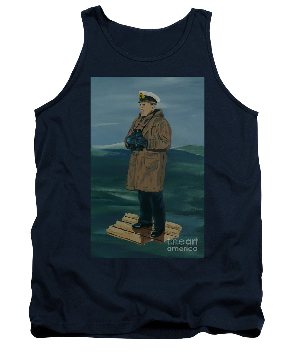 Captain Tank Top featuring the painting The Captain by Anthony Dunphy