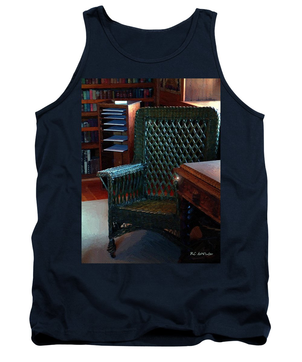 Antiques Tank Top featuring the painting The Consulting Room by RC DeWinter