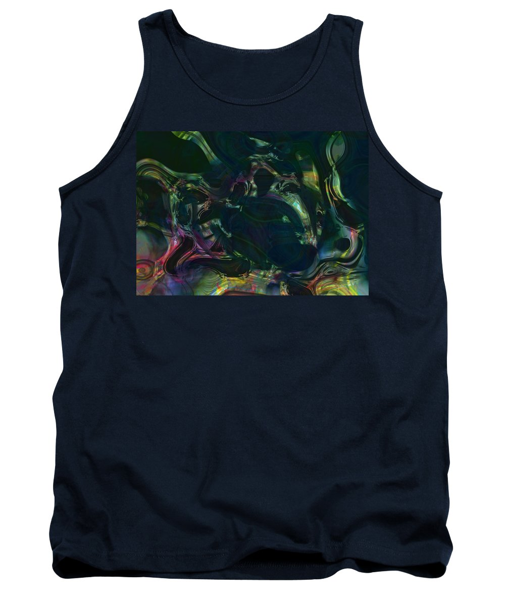 Abstract Tank Top featuring the digital art The Fractured Memory Of Holtzman Zine by Richard Thomas