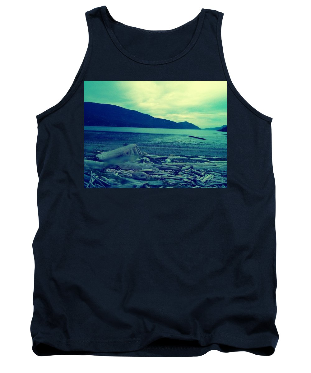 Orcas Island Tank Top featuring the photograph The Logs by Barbara Christensen