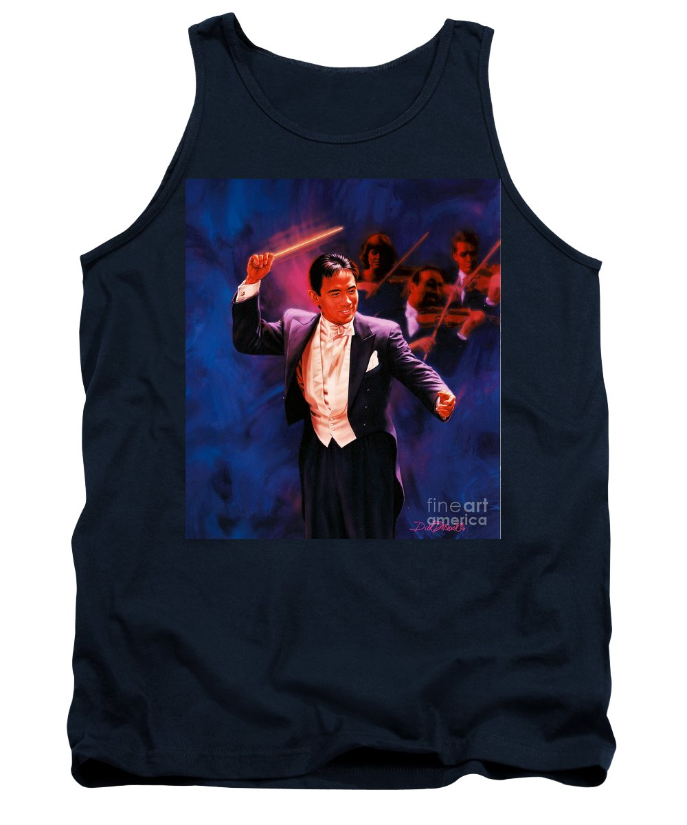 Portrait Tank Top featuring the painting The Maestro by Dick Bobnick
