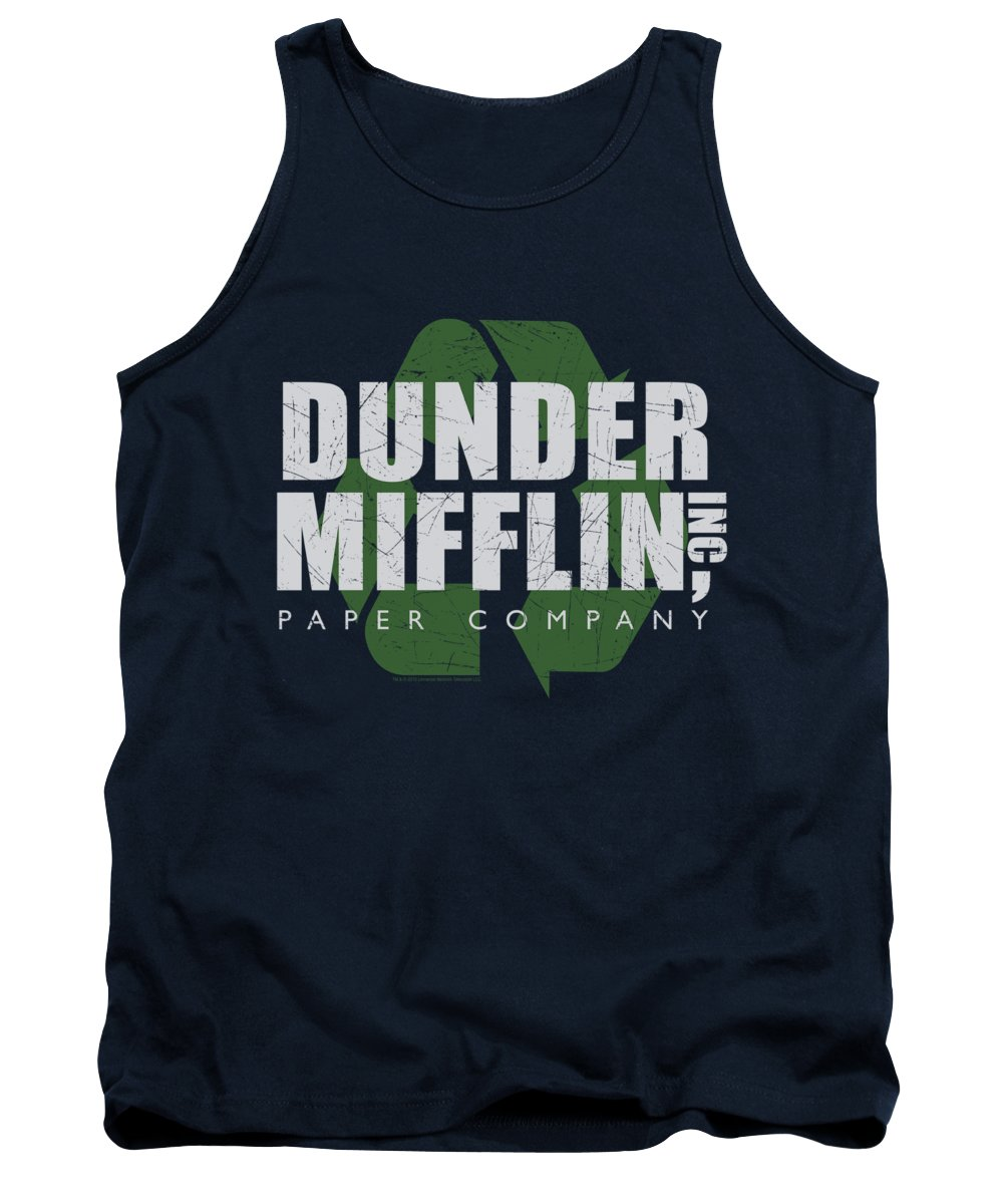 The Office Tank Top featuring the digital art The Office - Recycle Mifflin by Brand A