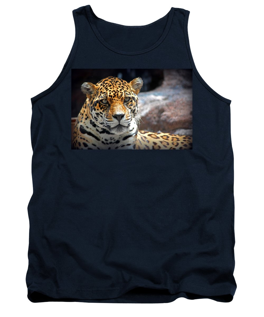 Leopard Tank Top featuring the photograph The Ole Leopard Don't Change His Spots by Lynn Sprowl