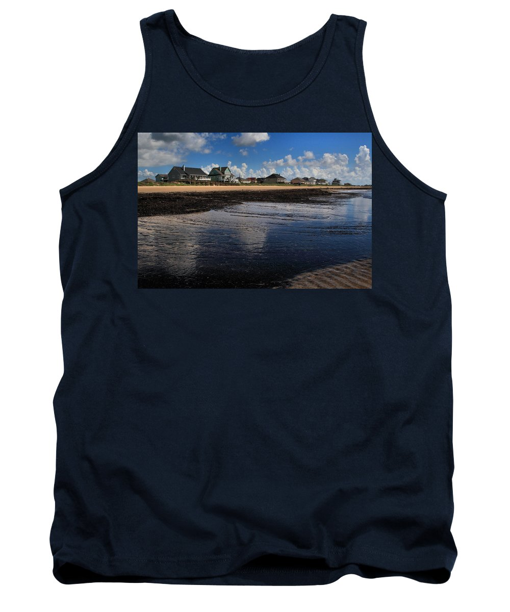 Beach Tank Top featuring the digital art The Reflected Sky by Linda Unger
