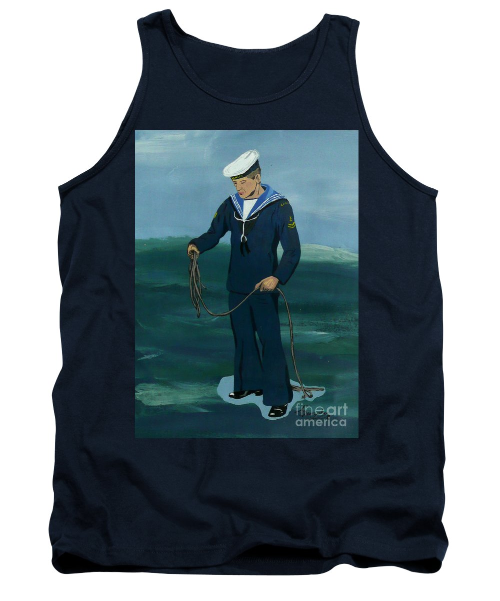Sailor Tank Top featuring the painting The Sailor by Anthony Dunphy