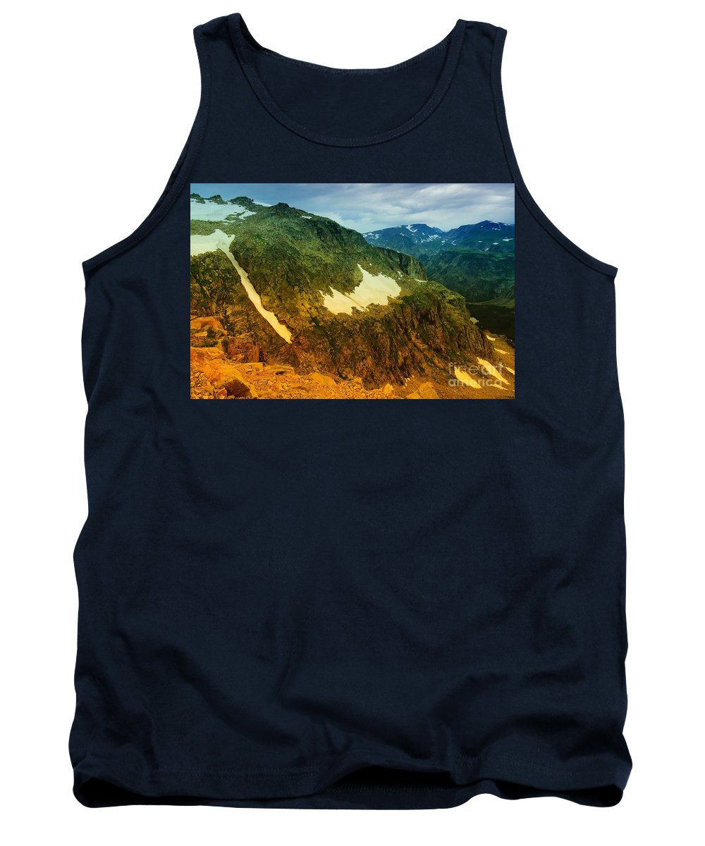 Mountains Tank Top featuring the photograph The Silent Mountains by Jeff Swan