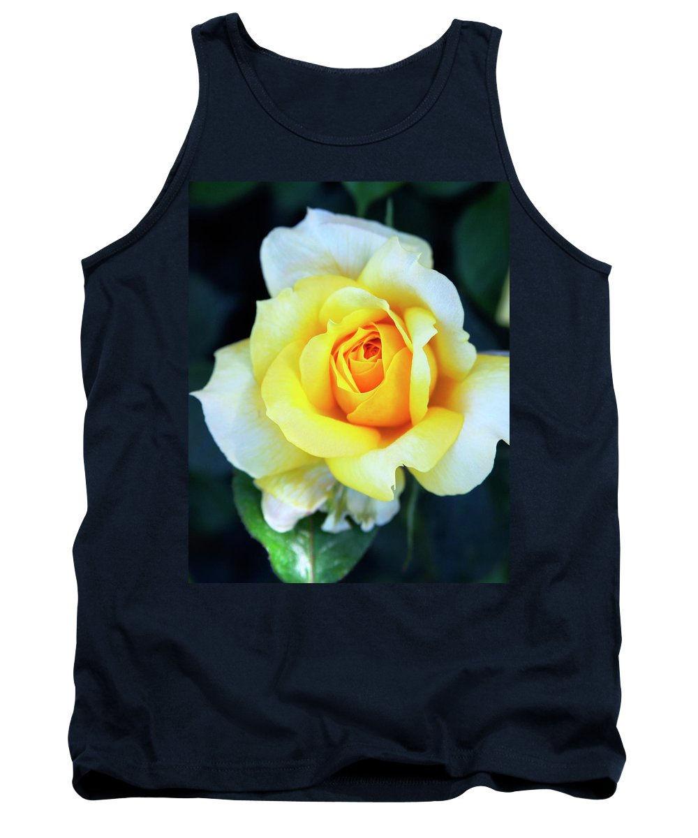 Rose Tank Top featuring the photograph The Yellow Rose Palm Springs by William Dey