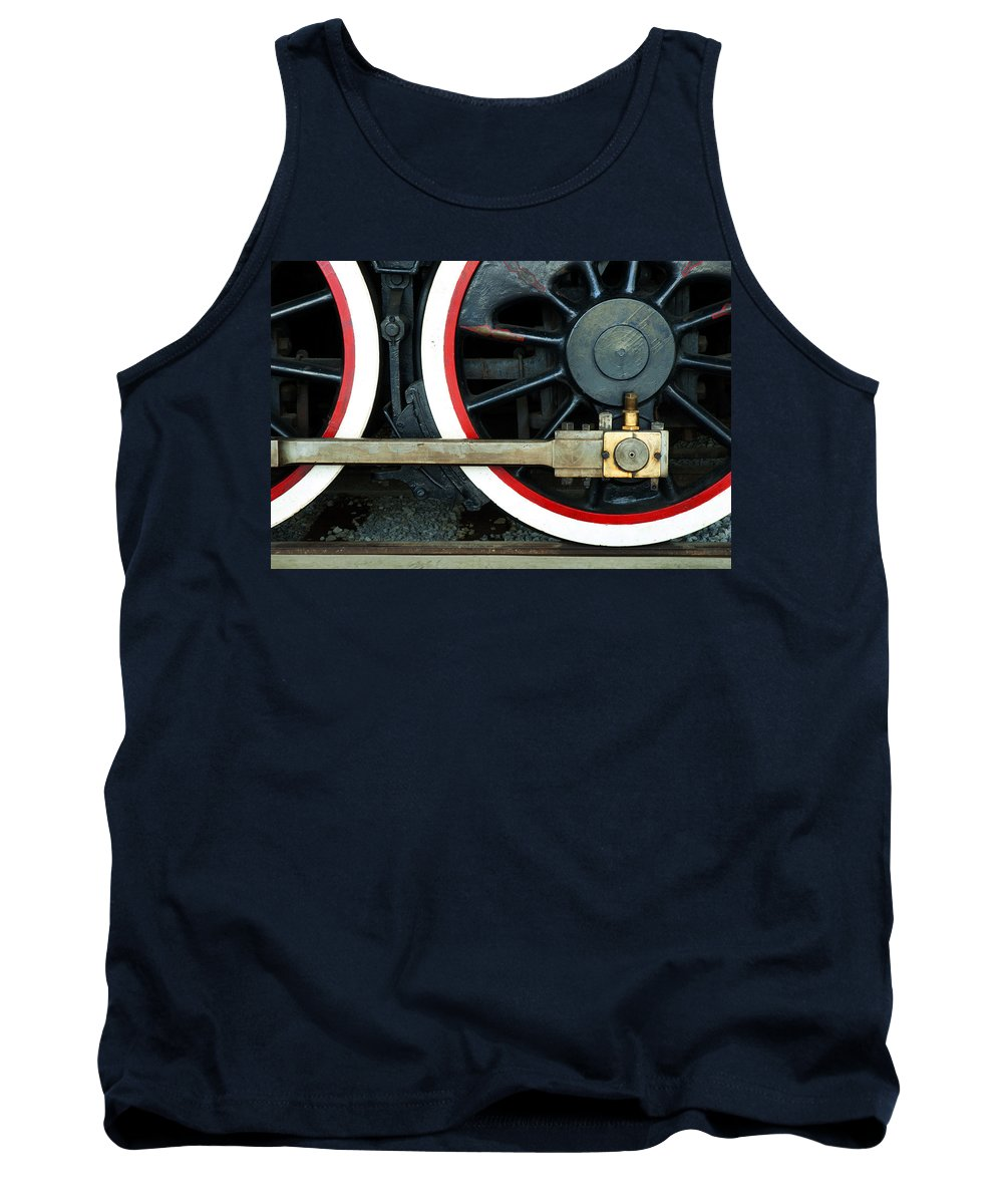 Railroad Tank Top featuring the photograph They Drive The Wheels by Paul W Faust - Impressions of Light