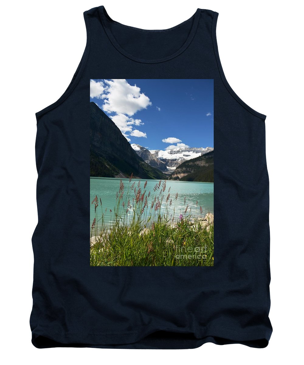 Lake Louise Tank Top featuring the photograph Through The Weeds by Deanna Cagle