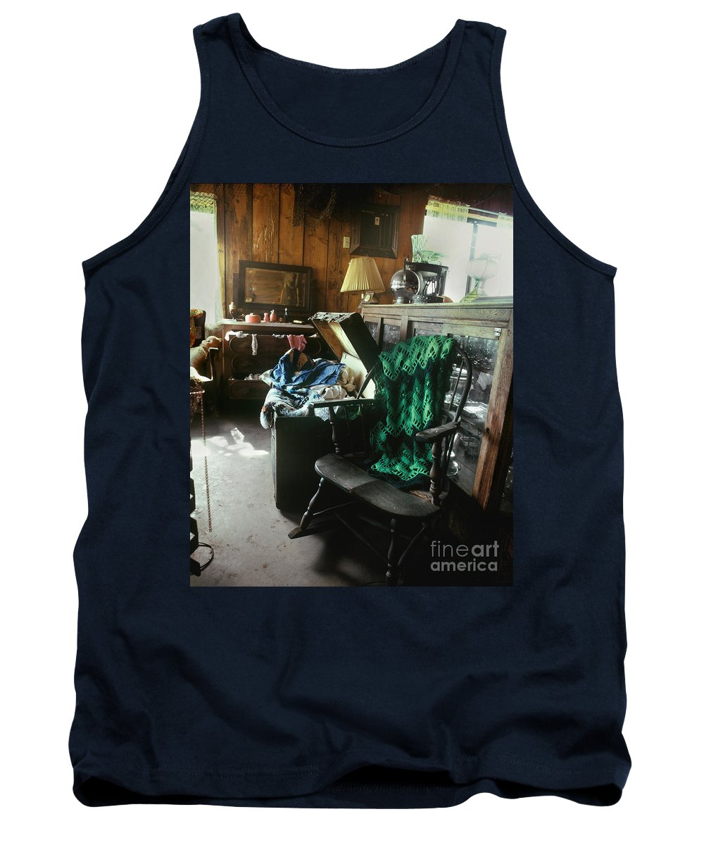 Old Tank Top featuring the photograph Times Past by Judy Bottler