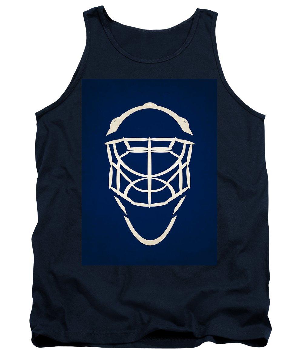 Maple Leafs Tank Top featuring the photograph Toronto Maple Leafs Goalie Mask by Joe Hamilton