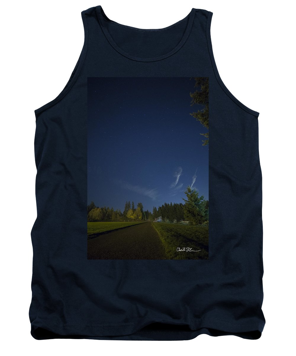 Track Tank Top featuring the photograph Track Night by Charlie Duncan