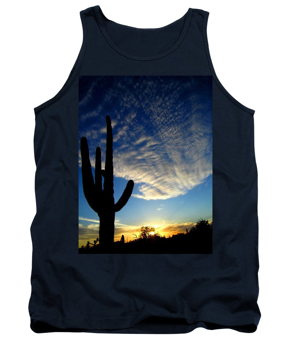 Sunset Tank Top featuring the photograph Tranquility by Nelson Strong