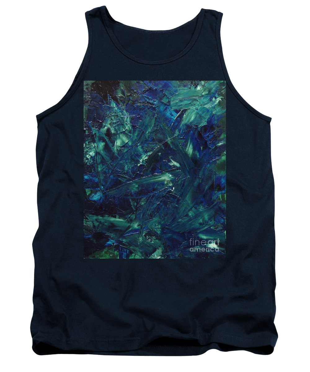 Abstract Tank Top featuring the painting Transtions Xi by Dean Triolo