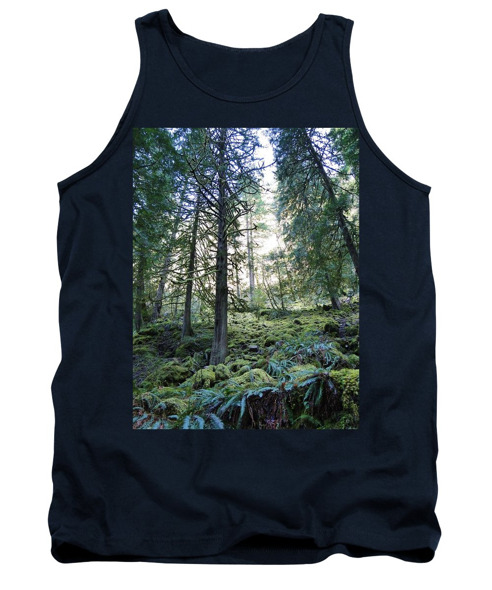 Trees Tank Top featuring the photograph Treequility by Athena Mckinzie