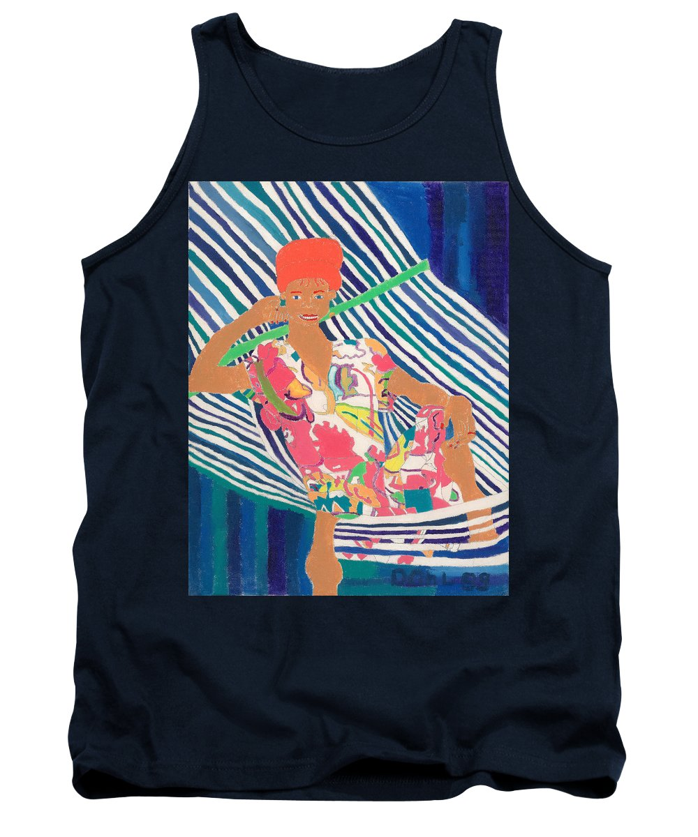 Tank Top featuring the painting Tropical Beauty by Don Larison
