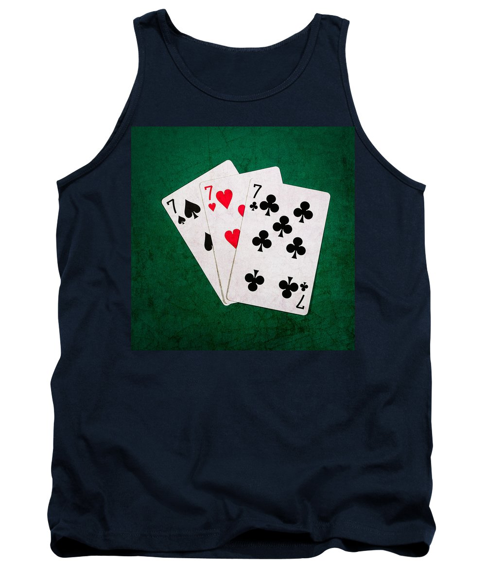 Blackjack Tank Top featuring the photograph Twenty One 12 - Square by Alexander Senin