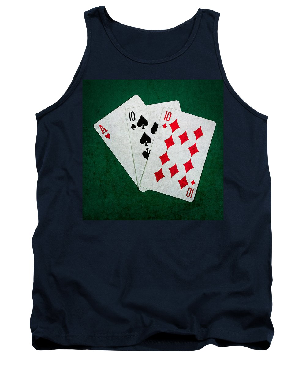 Blackjack Tank Top featuring the photograph Twenty One 4 - Square by Alexander Senin