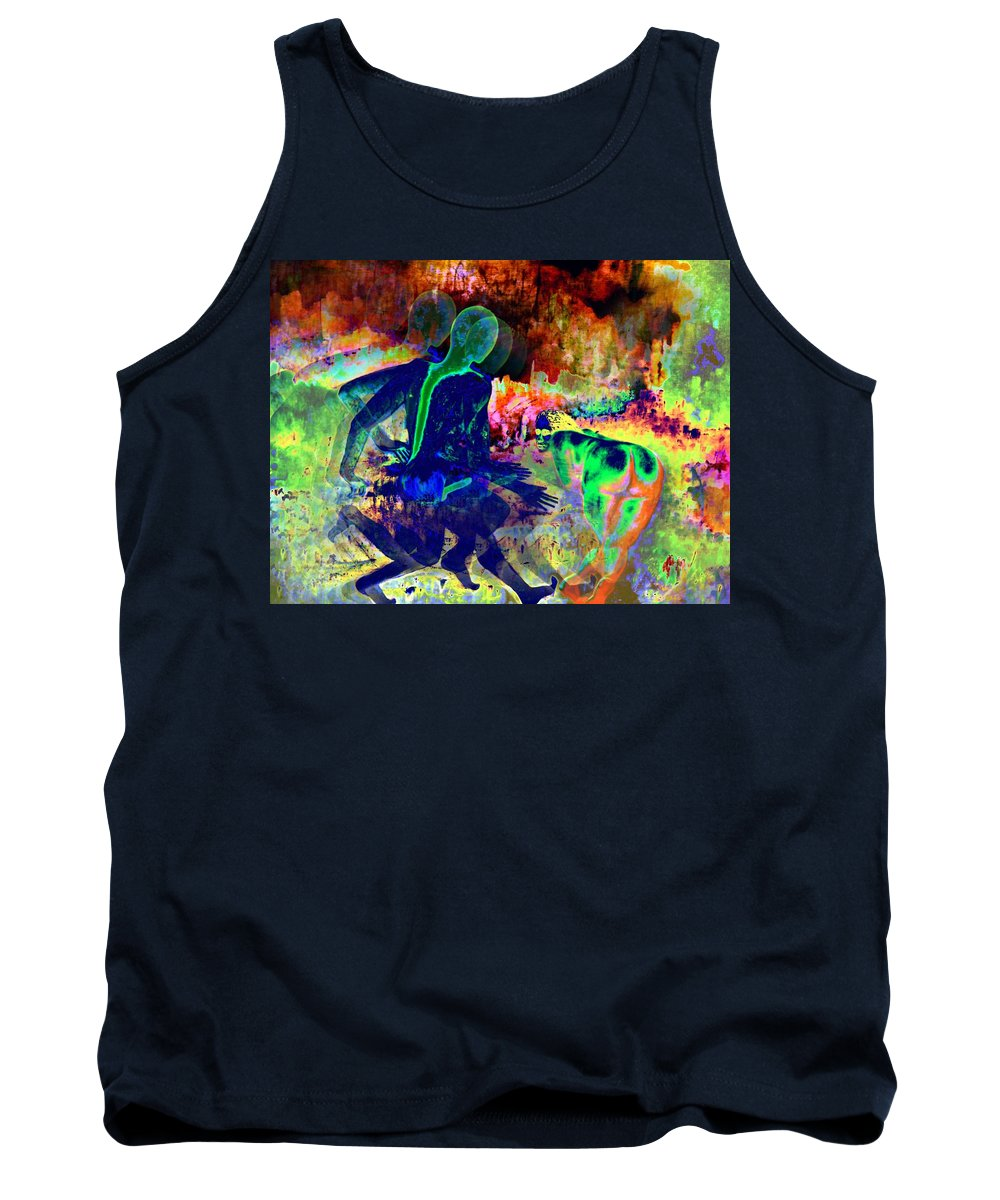 Genio Tank Top featuring the mixed media Ultimate Volcano Wishes by Genio GgXpress