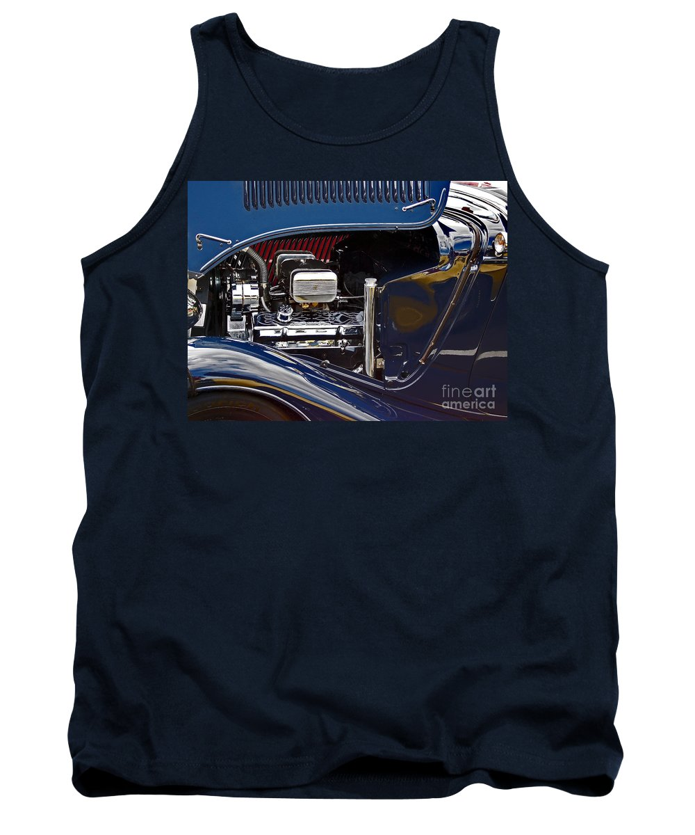 Car Tank Top featuring the photograph Under The Hood by Skip Willits