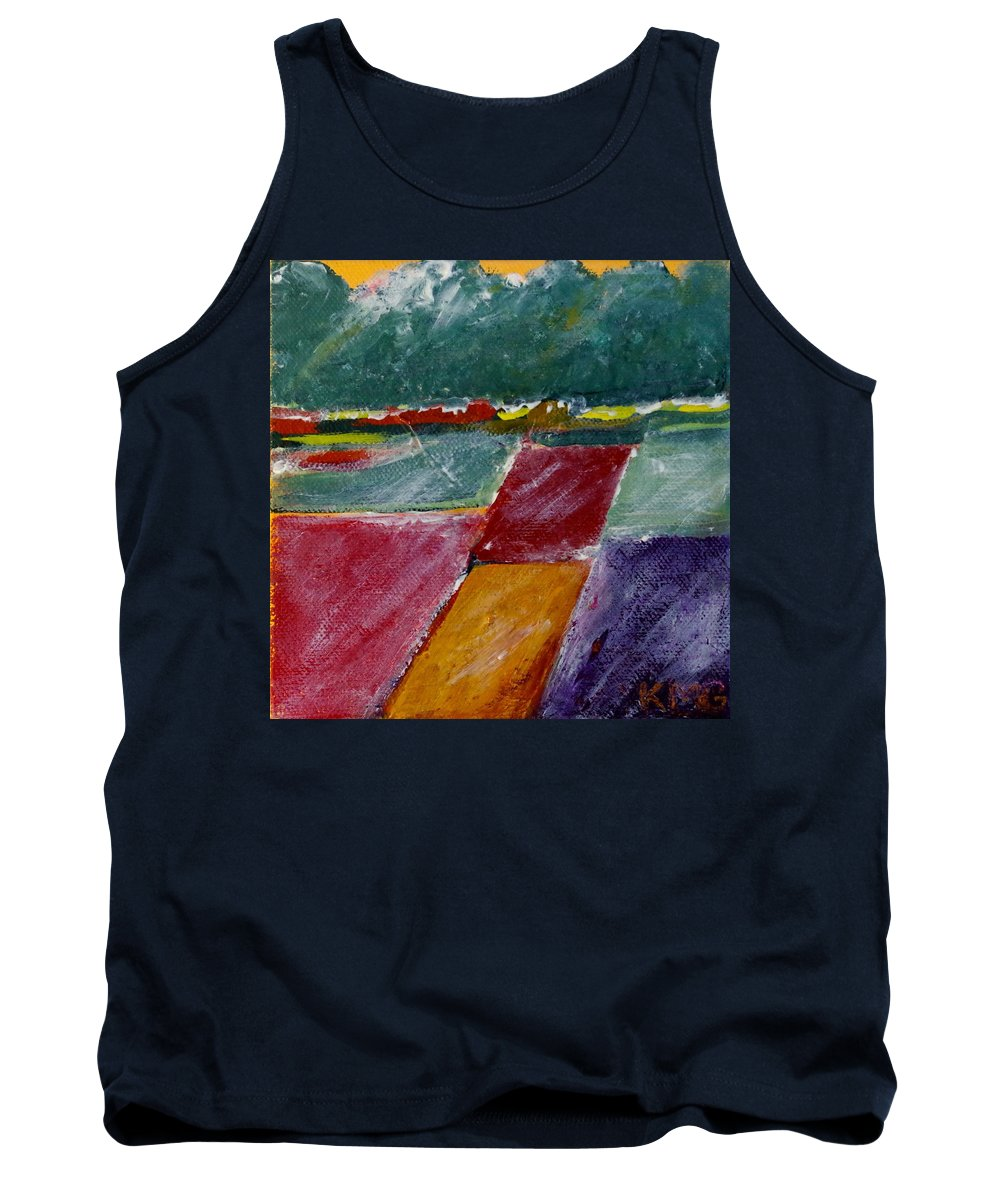 Acrylic Tank Top featuring the painting Valley Snow by Kimberly Maxwell Grantier