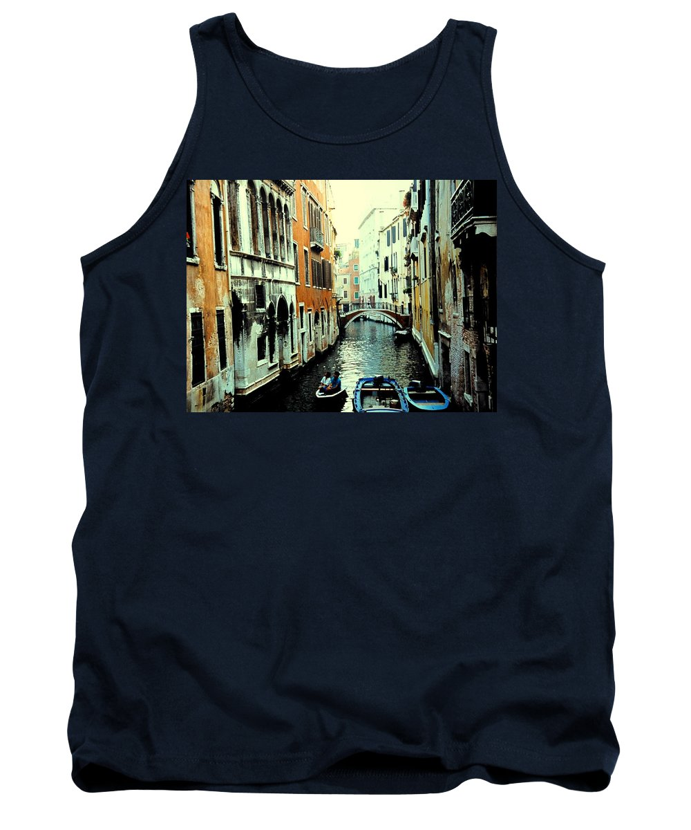 Venice Tank Top featuring the photograph Venice Street Scene by Ian MacDonald