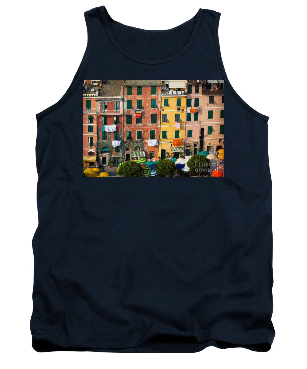 Cinque Terre Tank Top featuring the photograph Vernazza Facades by Inge Johnsson