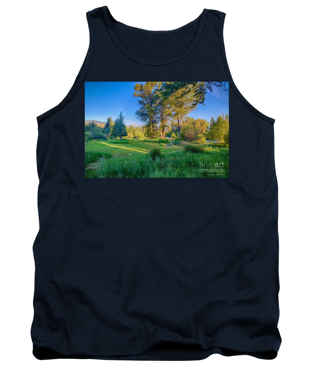 2014 Tank Top featuring the digital art View Of Mt Gardner From Cottonwood Cottage by Omaste Witkowski