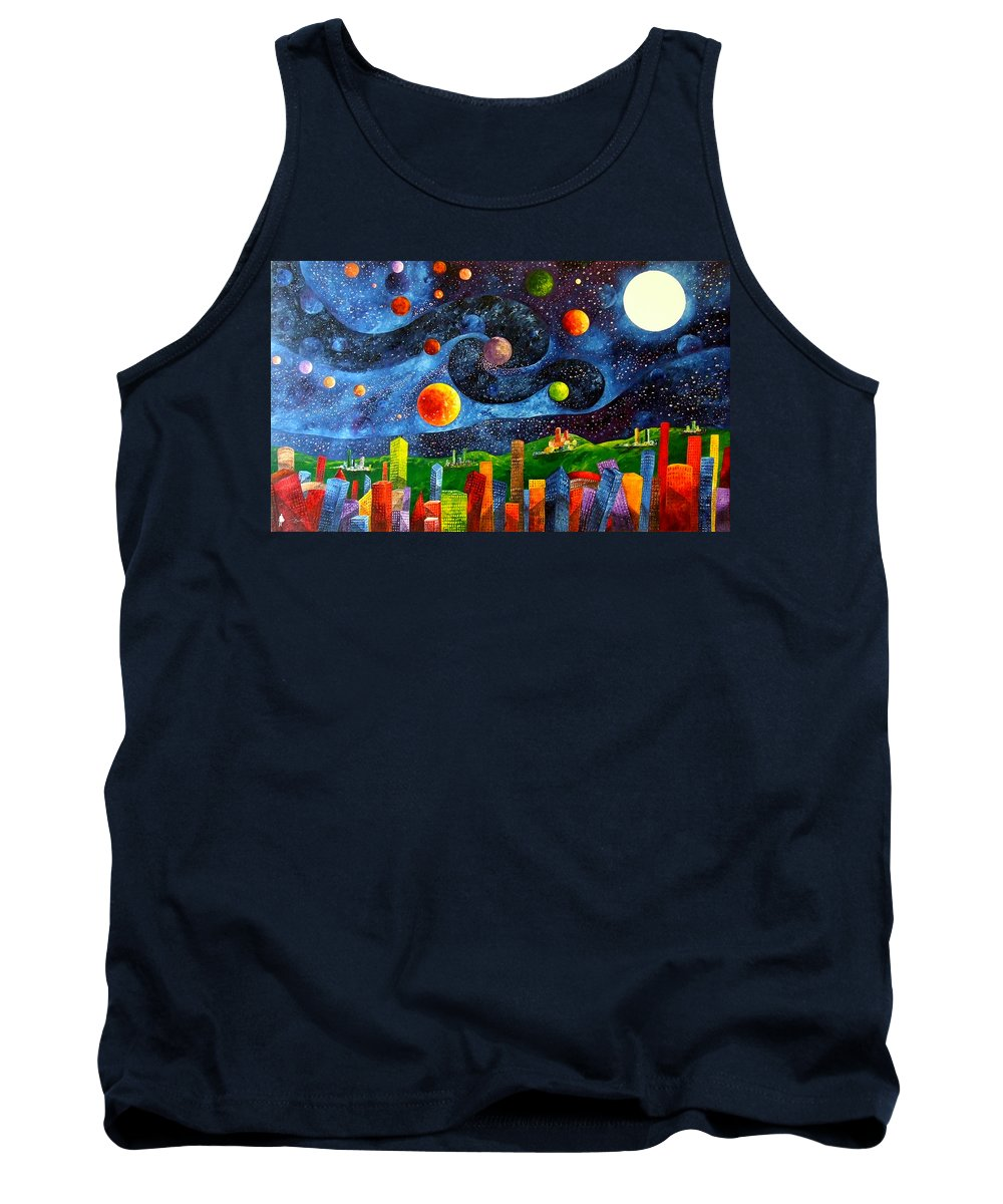 Landscape Tank Top featuring the painting Vincent's Dream by Bert Munoz