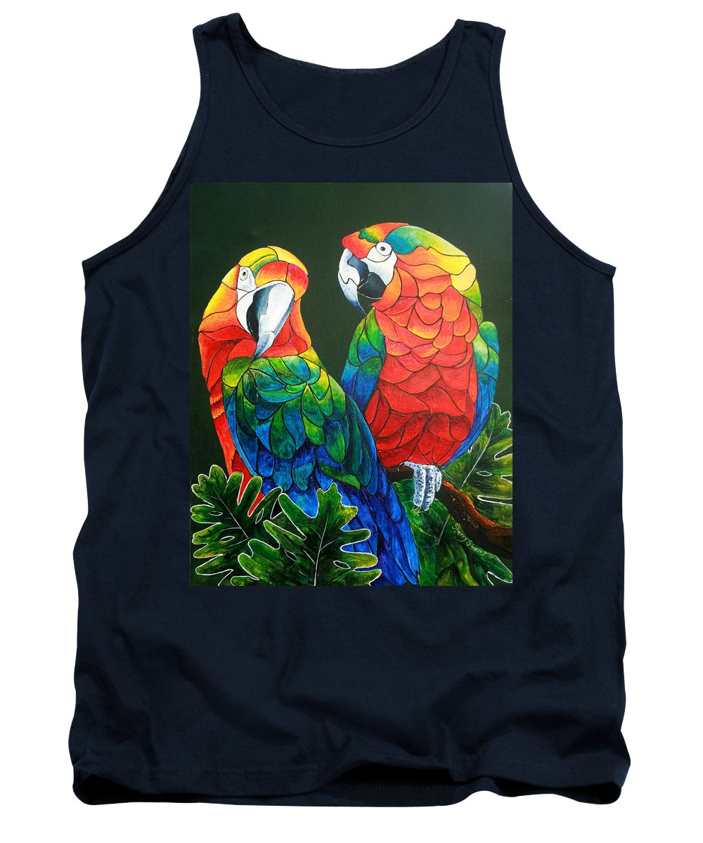 Bird Tank Top featuring the painting Wanna Know A Secret by Sherry Shipley