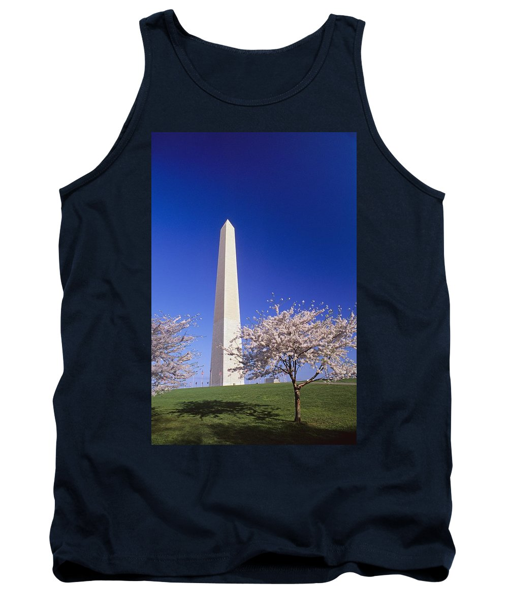 Architecture Tank Top featuring the photograph Washington Monument by Bilderbuch