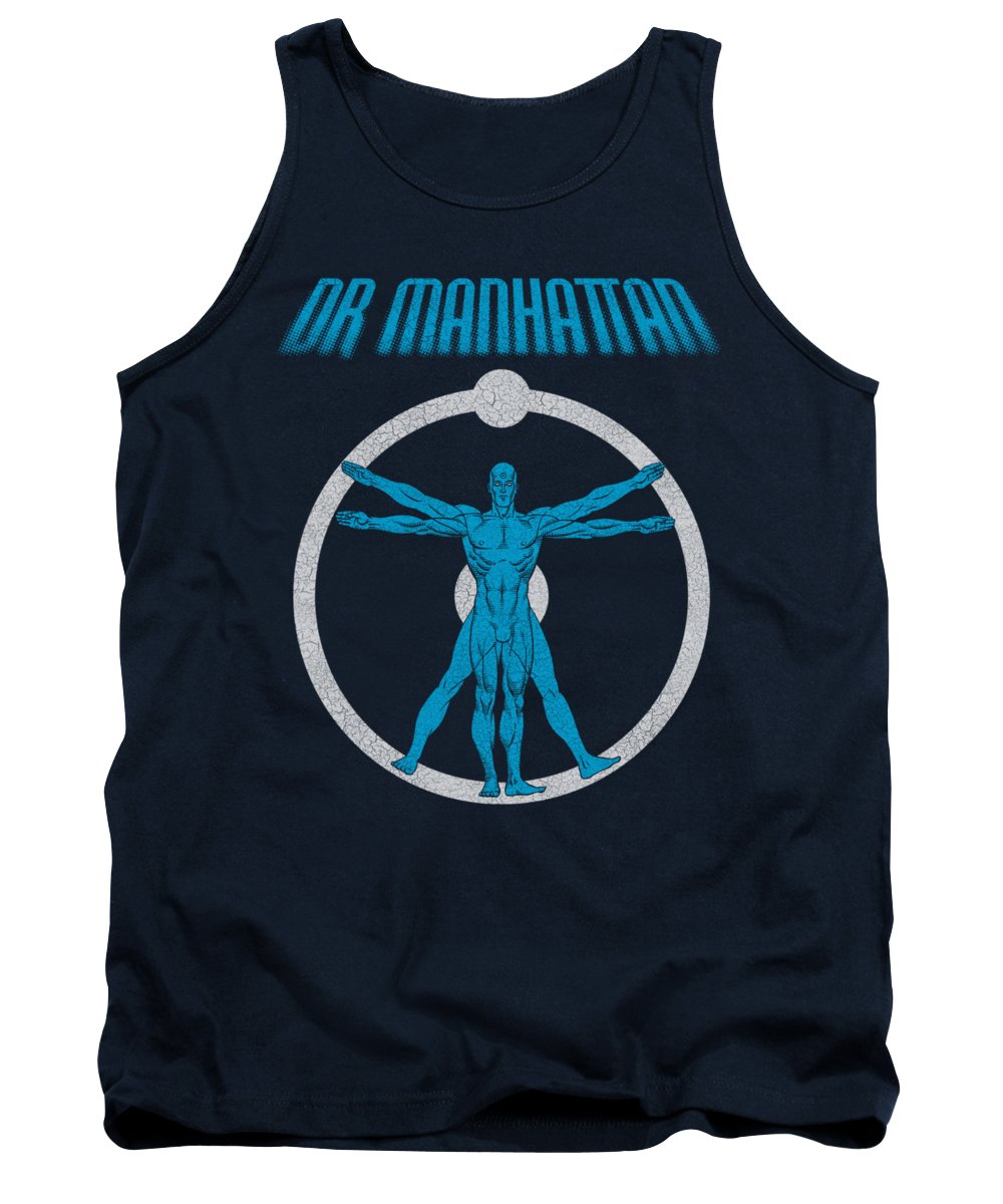 The Watchmen Tank Top featuring the digital art Watchmen - Anatomy by Brand A