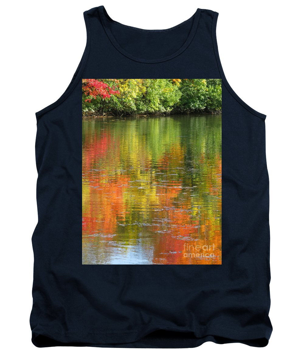 Autumn Tank Top featuring the photograph Water Colors by Ann Horn