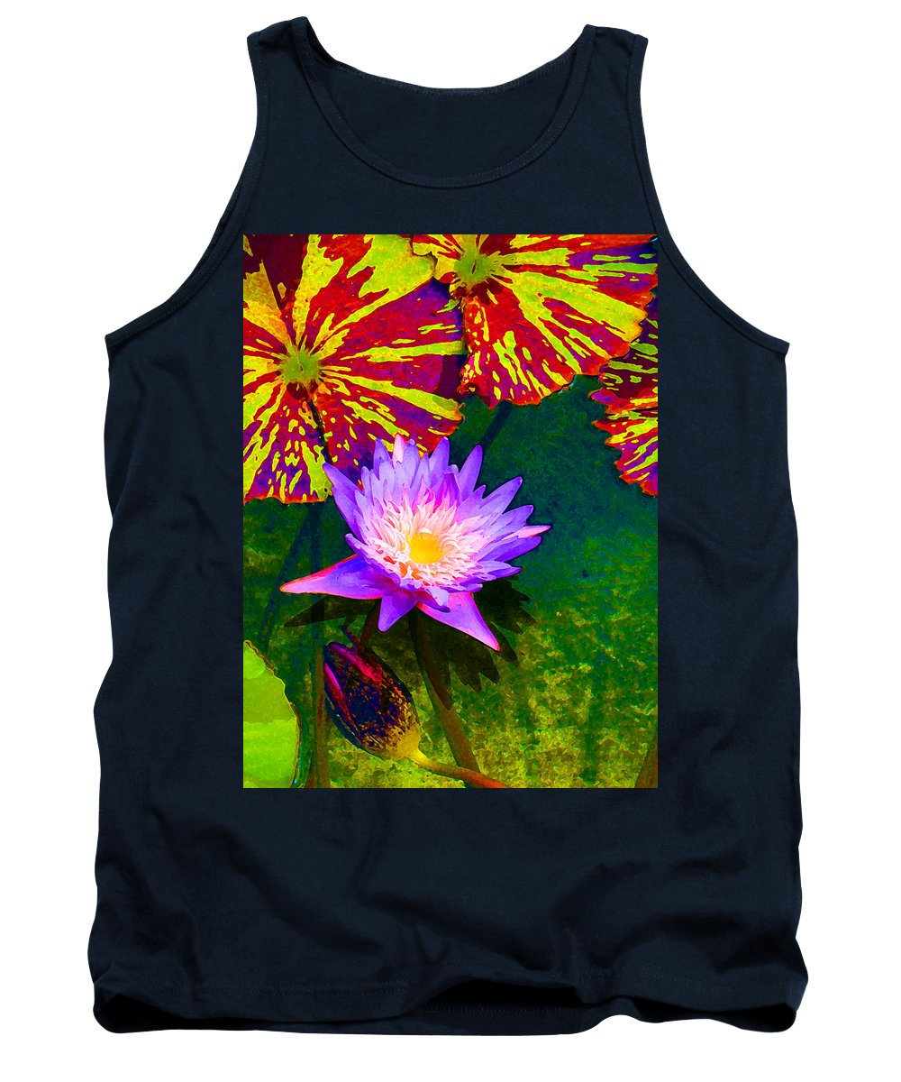 Water Lilies Tank Top featuring the painting Water Lilies by Amy Vangsgard