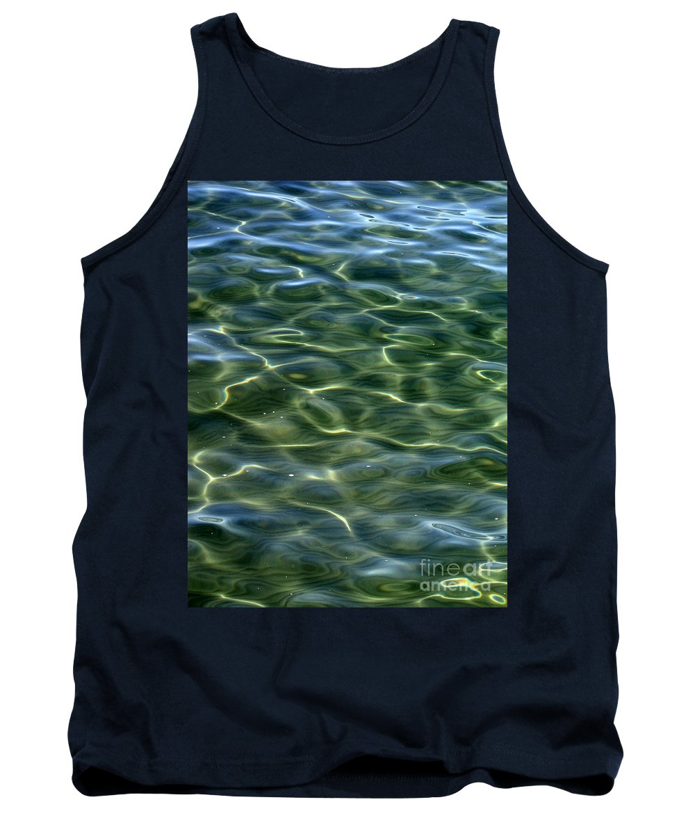Water Tank Top featuring the photograph Waves On Lake Tahoe by Carol Groenen