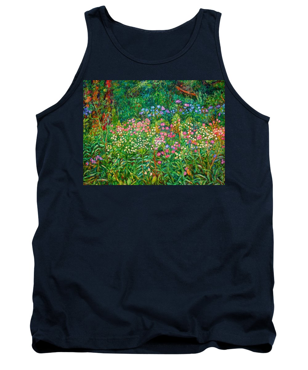 Floral Tank Top featuring the painting Wildflowers Near Fancy Gap by Kendall Kessler