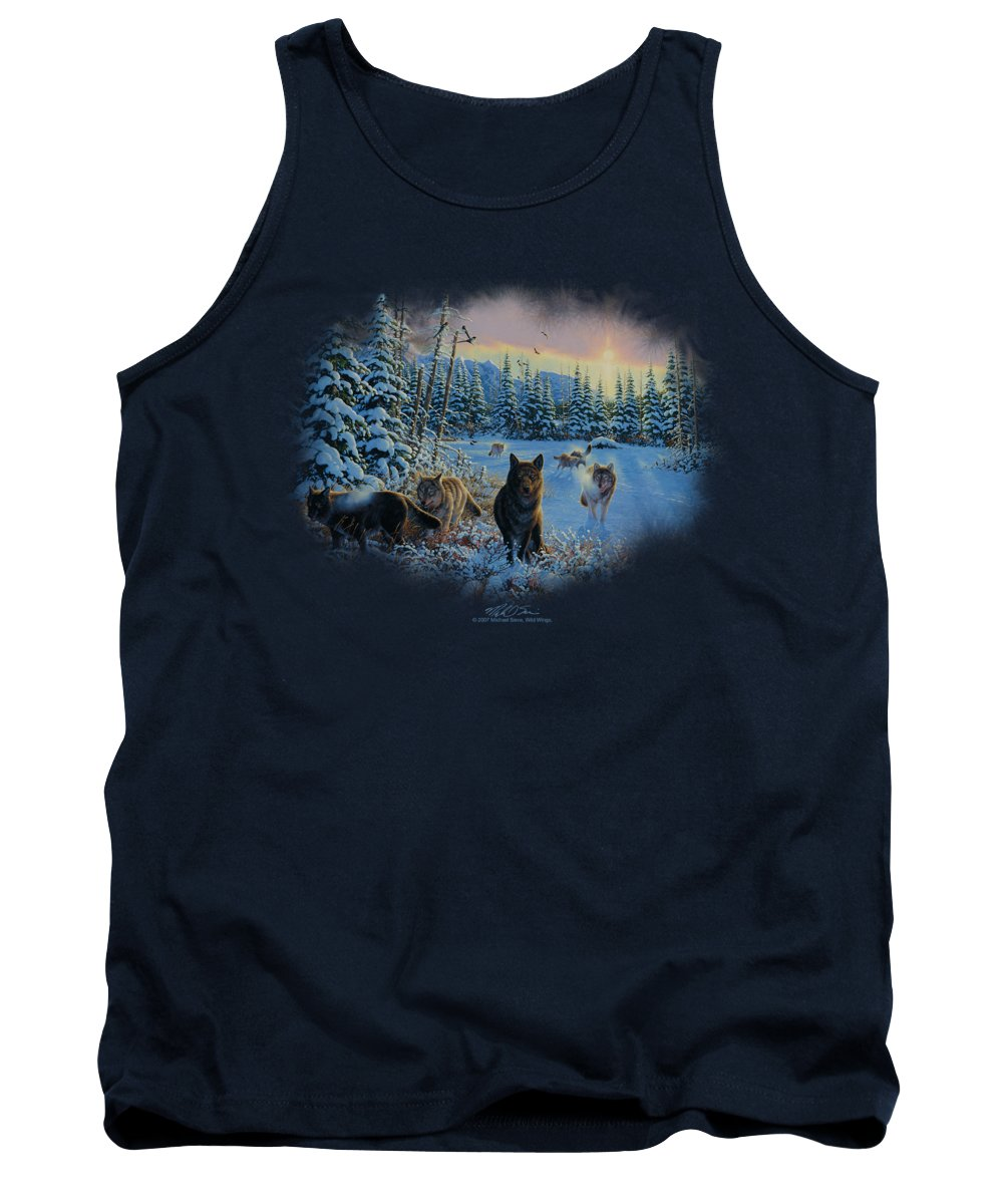 Wildlife Tank Top featuring the digital art Wildlife - Hunter's Moon The Spoils by Brand A