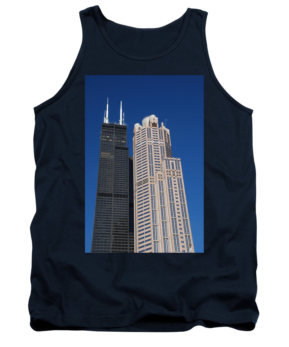 Willis Tank Top featuring the photograph Willis Tower Chicago by Richard Bryce and Family